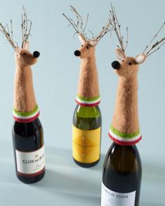 reindeer wine toppers