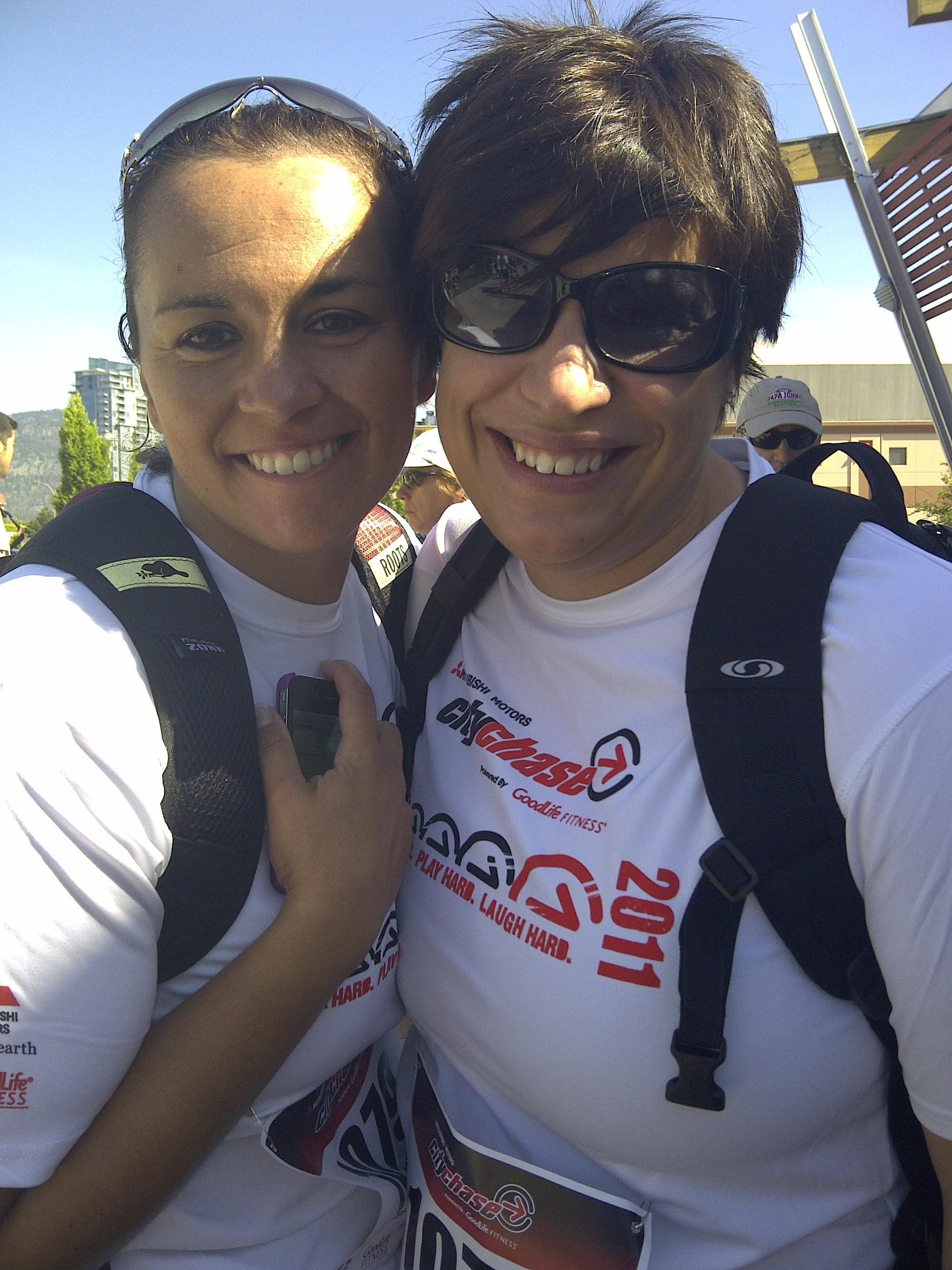 Lindsay and Christina ready to go!